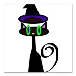 Witchy little cat Square Car Magnet 3