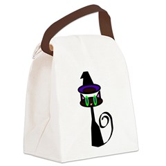 Witchy little cat Canvas Lunch Bag