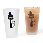 Witchy little cat Drinking Glass