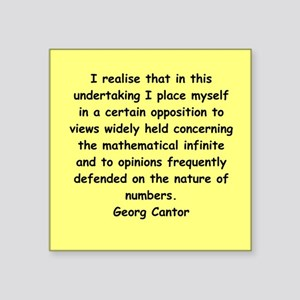 """cantor4.png Square Sticker 3"""" x 3"""""""
