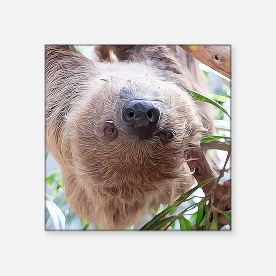 """Sloth Square Sticker 3"""" x 3"""""""