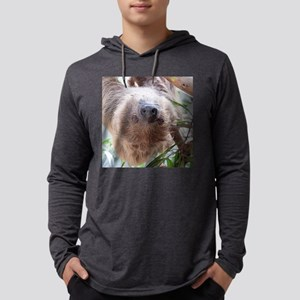cute sloth in the tree Mens Hooded Shirt