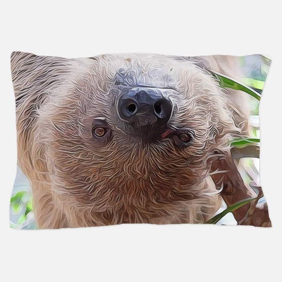 cute sloth in the tree Pillow Case