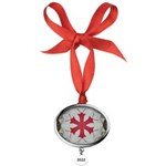 Red TNT Bugs Oval Year Ornament