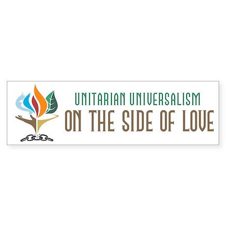 UU On the Side of Love Sticker (Bumper)