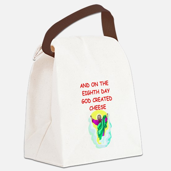 CHEESE.png Canvas Lunch Bag