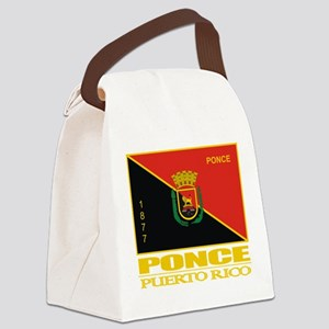 Ponce Flag Canvas Lunch Bag