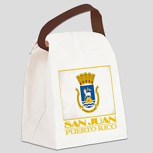 San Juan Flag Canvas Lunch Bag
