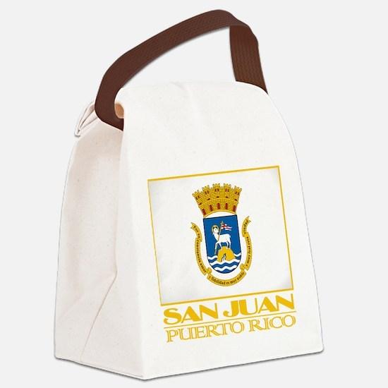 San Juan Flag.png Canvas Lunch Bag