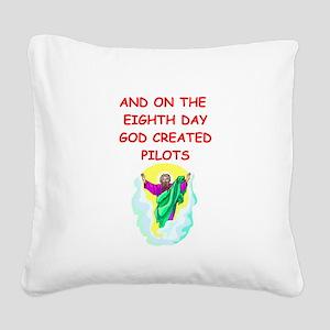 PILOTS Square Canvas Pillow