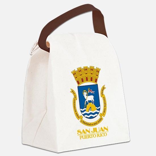 San Juan COA.png Canvas Lunch Bag
