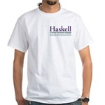 New haskell shirt (both sides, white)