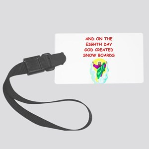 SNOWBOARDS Large Luggage Tag