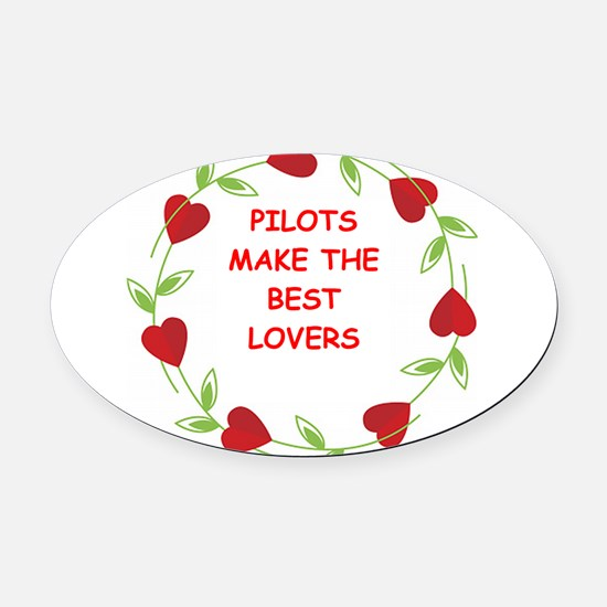 PILOTS.png Oval Car Magnet
