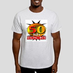 50ish Rocks Ash Grey T-Shirt
