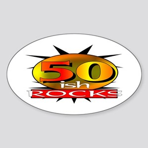 50ish Rocks Oval Sticker
