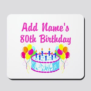 HAPPY 80TH BIRTHDAY Mousepad