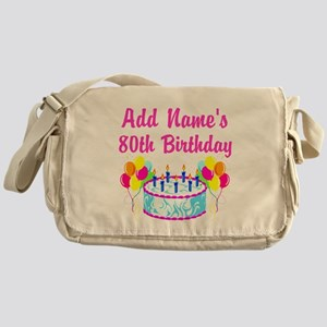 HAPPY 80TH BIRTHDAY Messenger Bag
