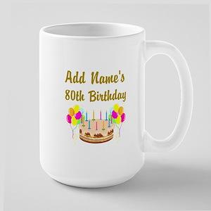 HAPPY 80TH BIRTHDAY Large Mug