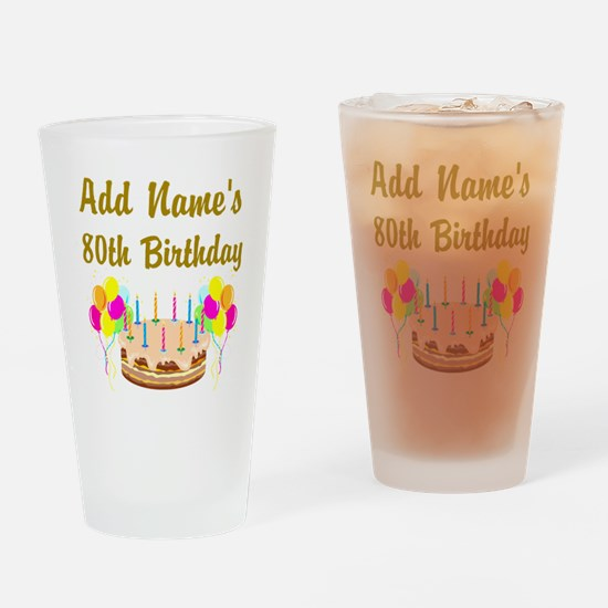 HAPPY 80TH BIRTHDAY Drinking Glass