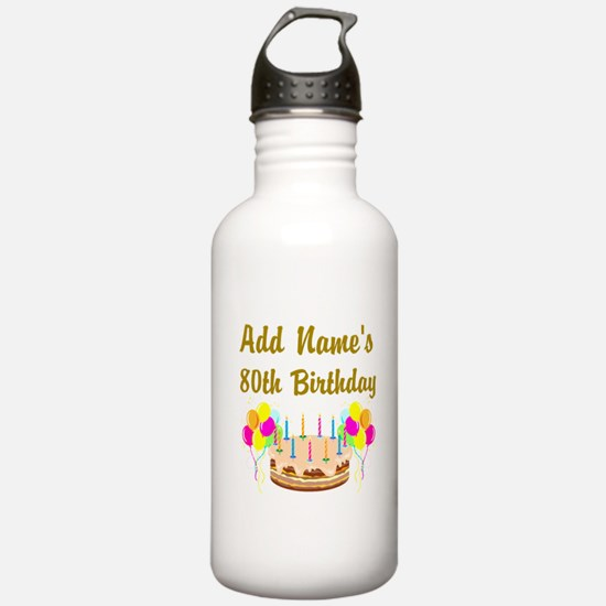 HAPPY 80TH BIRTHDAY Water Bottle