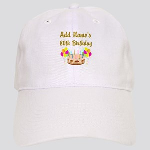 HAPPY 80TH BIRTHDAY Cap