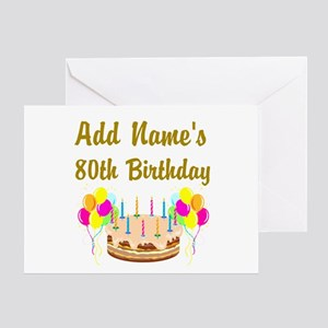 80th birthday greeting cards cafepress happy 80th birthday greeting card m4hsunfo