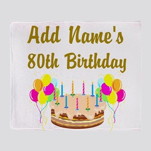 HAPPY 80TH BIRTHDAY Throw Blanket