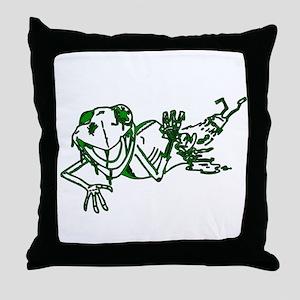 Zombe Frog Throw Pillow
