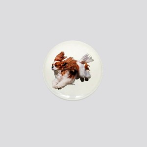 Cavalier Running- Blenheim Mini Button