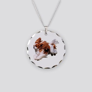 Cavalier Running- Blenheim Necklace Circle Charm