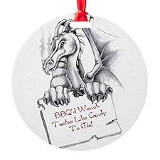 BBQ Wench Dragon Round Ornament