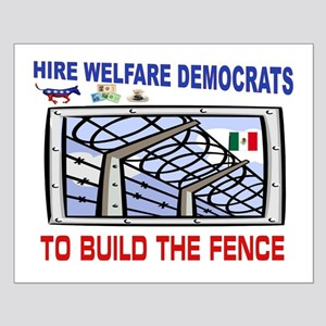 BORDER FENCE Small Poster