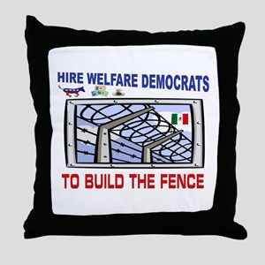 BORDER FENCE Throw Pillow