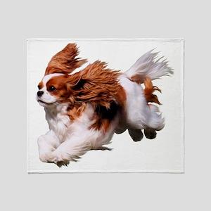 Cavalier Running- Blenheim Throw Blanket
