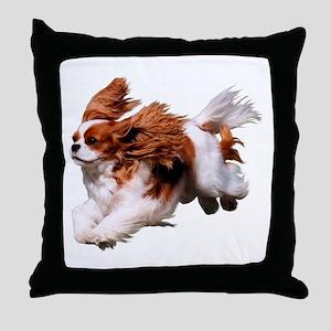 Cavalier Running- Blenheim Throw Pillow
