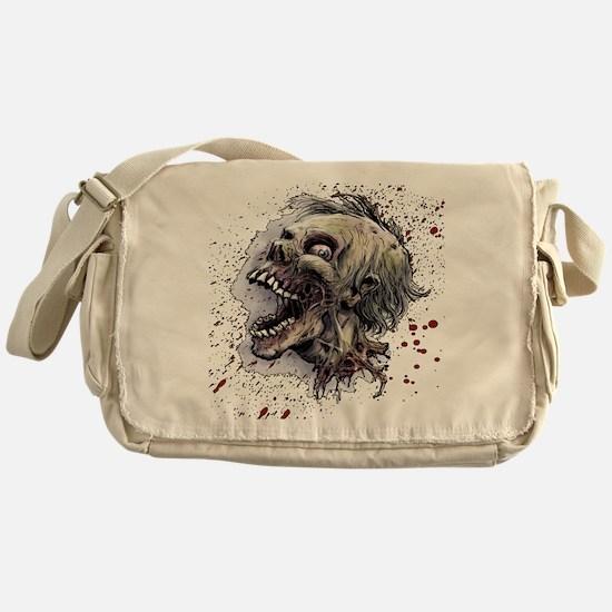 Zombie head Messenger Bag