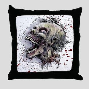 Zombie head Throw Pillow