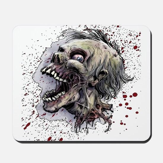 Zombie head Mousepad