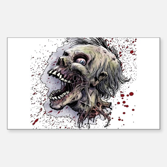 Zombie head Sticker (Rectangle)