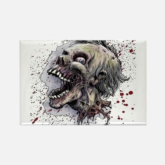 Zombie head Rectangle Magnet