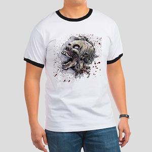 Zombie head Ringer T
