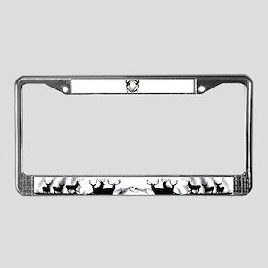 Buffalo skull dream catcher License Plate Frame