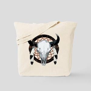Buffalo skull dream catcher Tote Bag