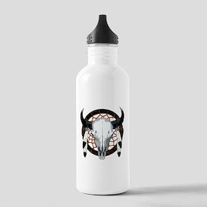 Buffalo skull dream catcher Stainless Water Bottle