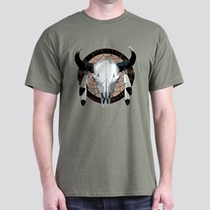 Buffalo skull dream catcher Dark T-Shirt