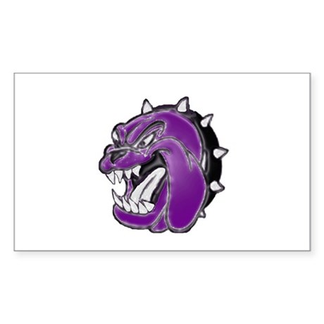 Fictitious the Dawg in Purple Sticker (Rectangular