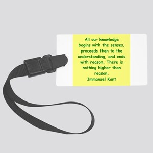 kant1 Large Luggage Tag