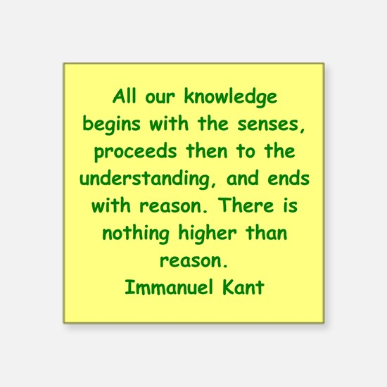 """kant1.png Square Sticker 3"""" x 3"""""""