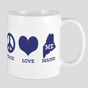 Peace Love Maine Mug
